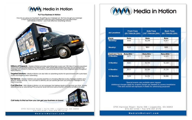 Media in Motion print work