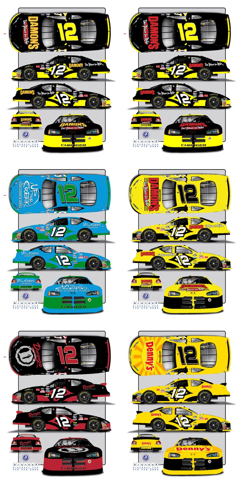 Nascar Car Vinyl Graphics
